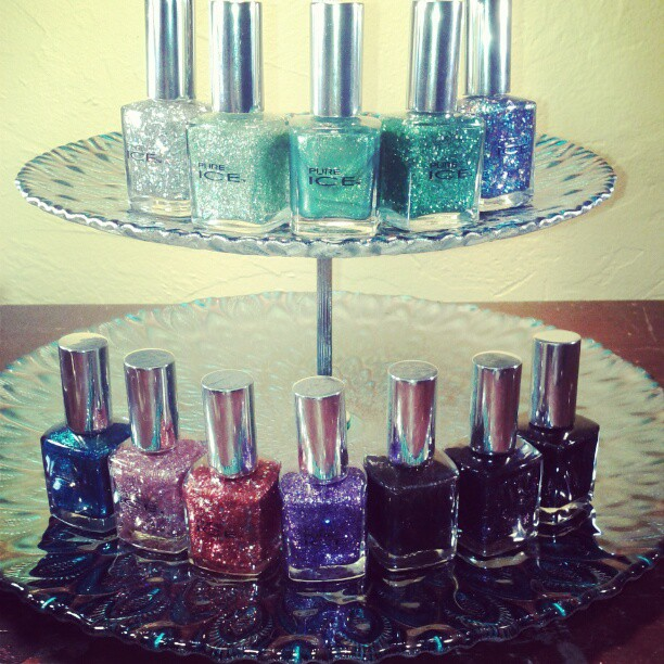 Pure Ice nail polish 2013 collection glitter two lacquered girls giveaway