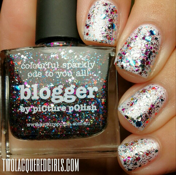 """Nail Art Using """"White Wedding"""" And """"Blogger"""" From PiCture"""