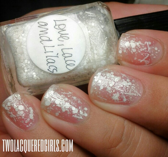 This weeks manicure: Lynnderella\'s Love, Lace and Lilacs over and ...