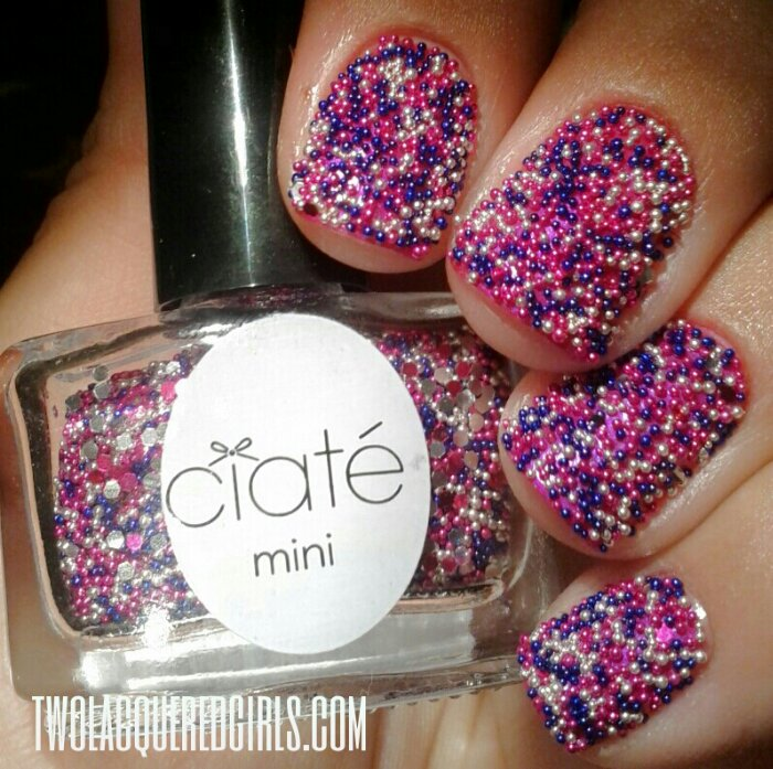 Ciate Caviar Nails: Valentine's Themed Manicure: Ciate Caviar Pearls In Prom